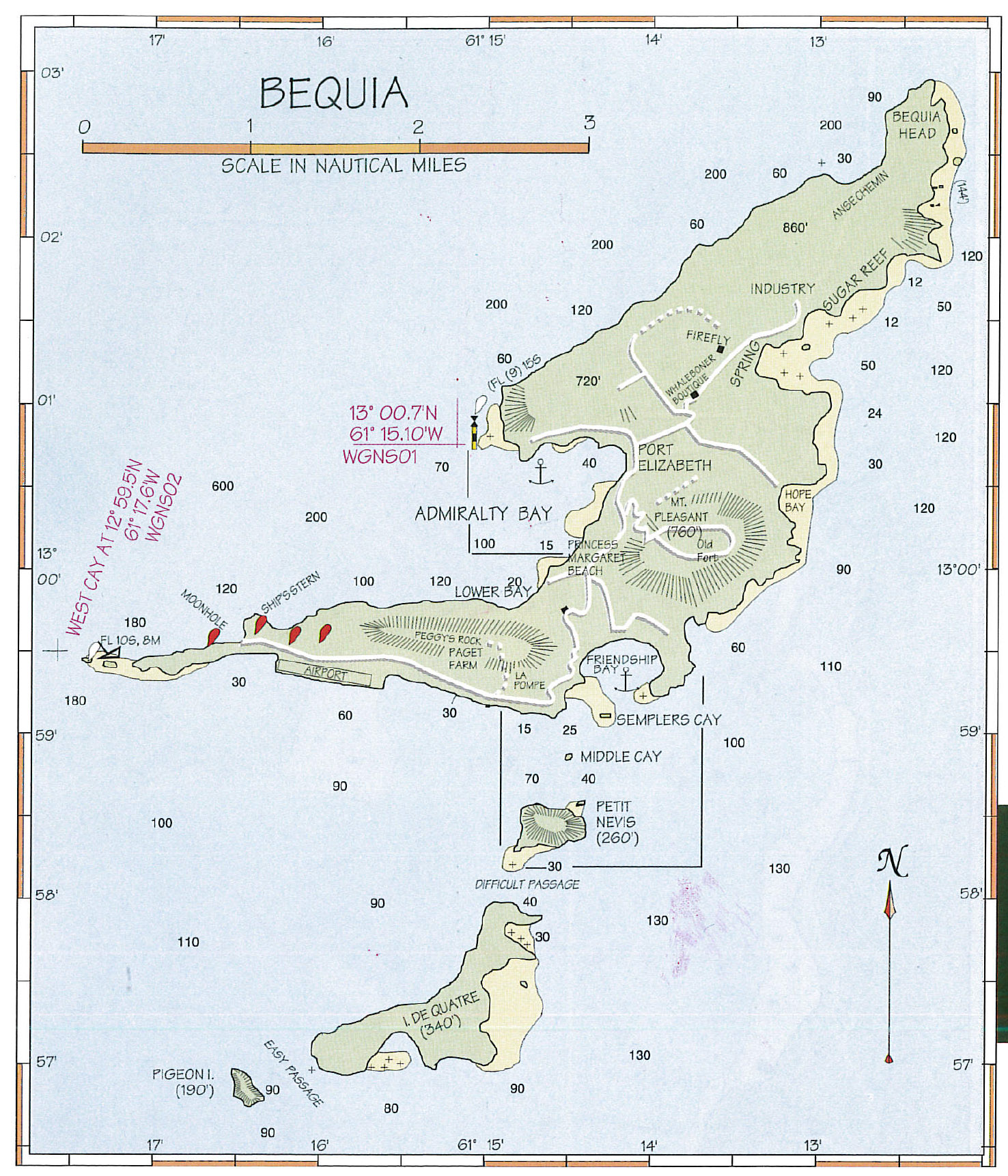 Bequia Map